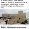 Il castello di Trani immortalato sul Fatto Quotidiano: ma la notizia riguarda Barletta