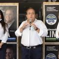 Raffaele Fitto ieri a Trani per sostenere la candidatura di Raimondo Lima