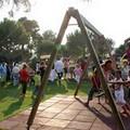 Il parco giochi della villa comunale di Trani