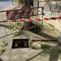 Furto tombini anche in via Falcone: un rischio per i pedoni per un mercato illecito