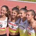 Campionati di società di atletica leggera, quattro ragazze tranesi vincono la medaglia d'oro