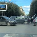 Tamponamento a catena su corso Vittorio Emanuele: tre le auto coinvolte
