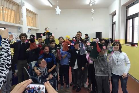 teatro burattini per disabili al Cosmai