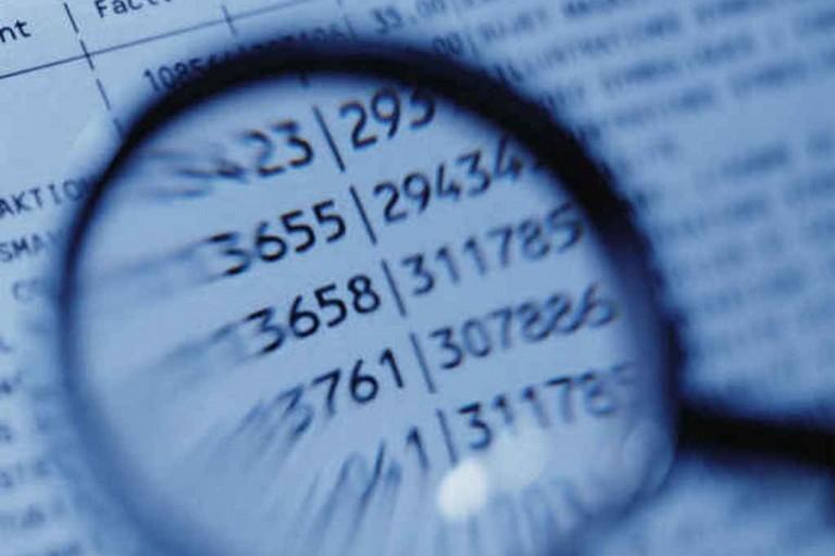 Bilancio, tabelle