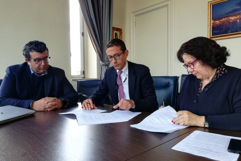 Firma protocollo Monastero di Colonna