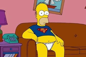 Homer Simpson sedentario