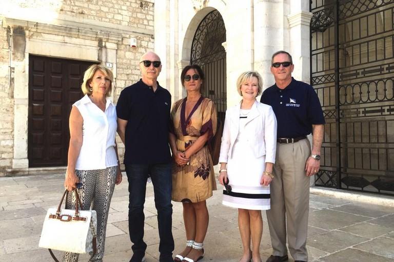 i generali dell'areonautica italiana e statunitense a Trani