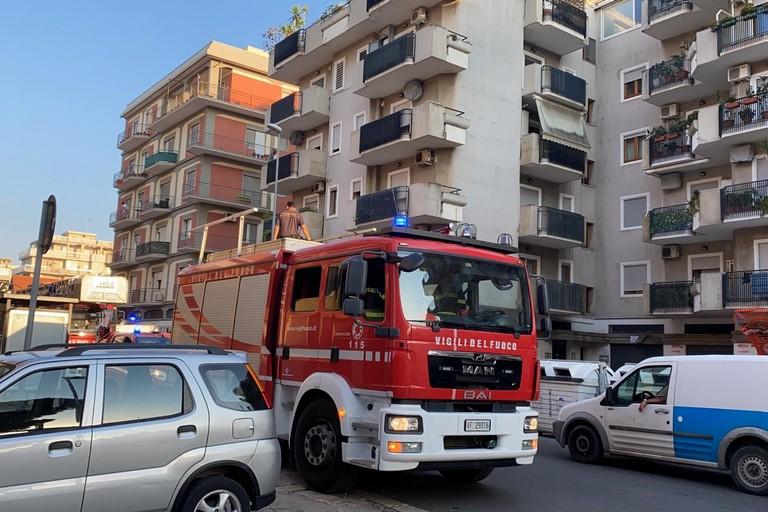 Vigili del fuoco, via Malcangi