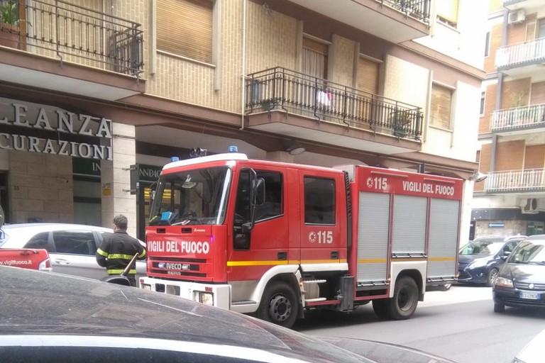 Incendio in corso Italia