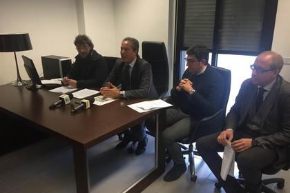 Conferenza stampa in Provincia sulla discarica
