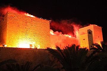 Incendio del Castello Svevo di Trani