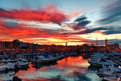 The sunset in Trani