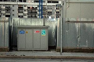 Cabina del gas metano in via Superga