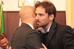Fabrizio Ferrante con Gigi Riserbato
