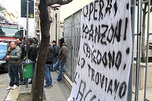 Protesta degli operai ex Franzoni