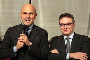 Gigi Riserbato con Nicola Fiore