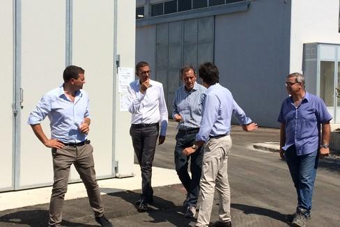 Il sindaco Bottaro visita il depuratore di Trani