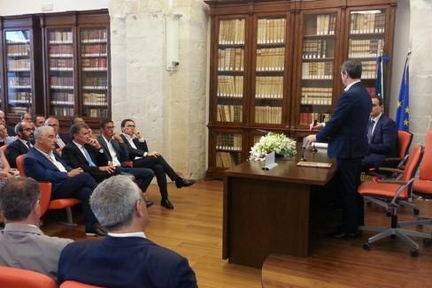 Il ministro Andrea Orlando all'Ordine degli avvocati