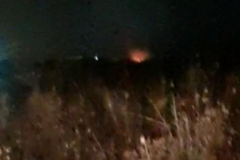 Incendio di rifiuti tossici nella zona nord di Trani