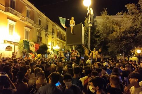 Italia campione d'Europa: festeggiamenti a Trani
