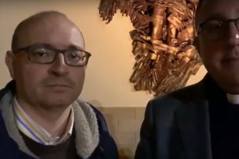 Benedizione ambulatorio Giuseppe Moscati, intervista a don Mimmo Gramegna