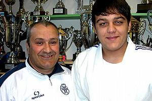 Giuseppe Lorusso con il maestro Nicola Loprieno