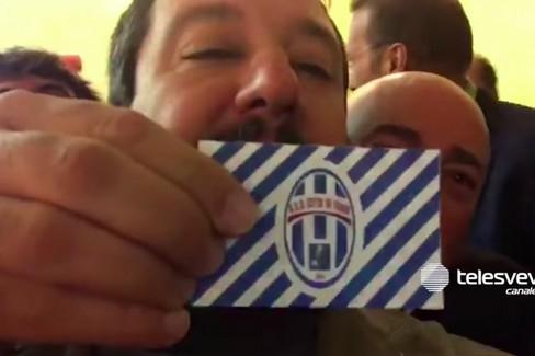 Matteo Salvini: «La Asd Città di Trani è più forte del Milan»