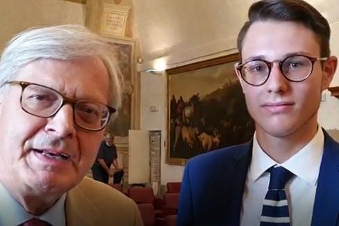 Vittorio Sgarbi supporta il candidato Ruggiero Grimaldi