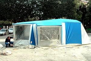 Tenda ex lavoratori Franzoni