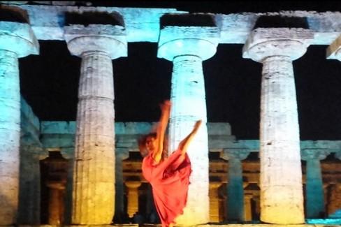 Esibizione di Simona del Nigro a Paestum