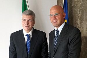 Nichi Vendola e Gigi Riserbato