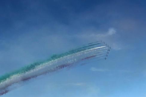 Bari San Nicola Air Show: video ringraziamento delle fecce tricolori