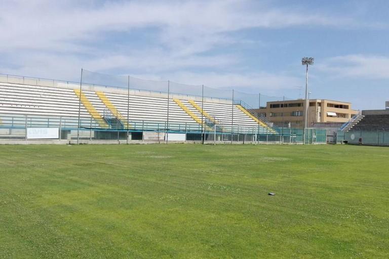 Settore ospiti stadio Fanuzzi Brindisi. <span>Foto foto Blunote</span>