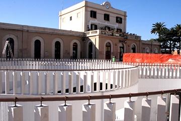 Stazione di Trani durante i lavori
