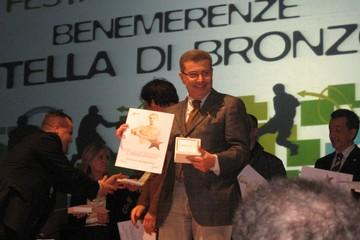 Antonio Rutigliano riceve la stella di bronzo al merito sportivo