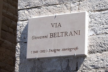 Toponomastica, targa stradale - Via Giovanni Beltrani