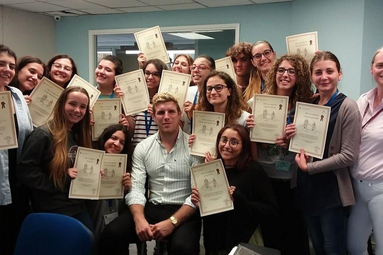 Studenti del De Sanctis a Londra