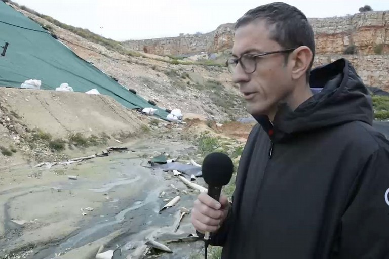 Amedeo Bottaro in discarica