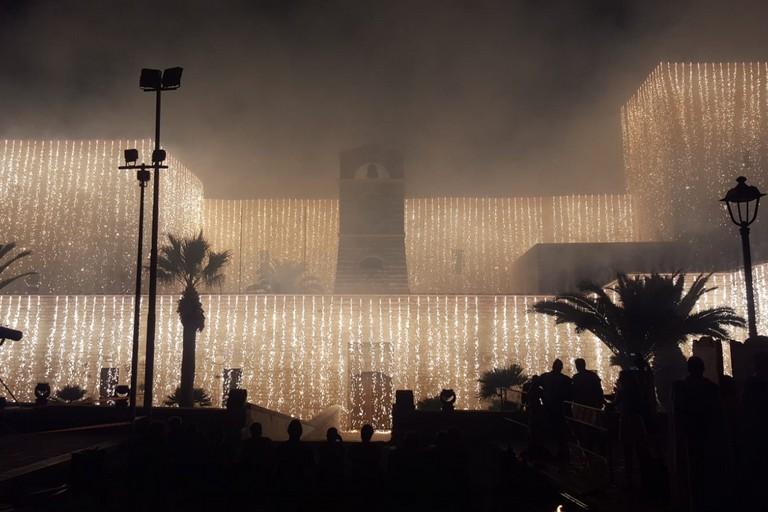 Settimana medioevale, incendio del Castello