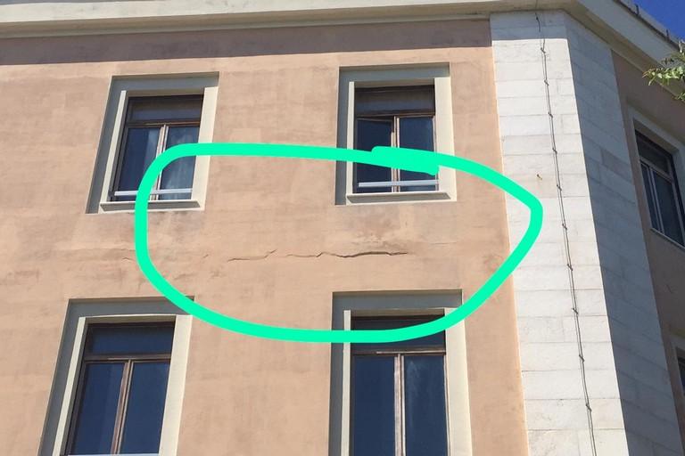 Liceo de Sanctis danneggiato